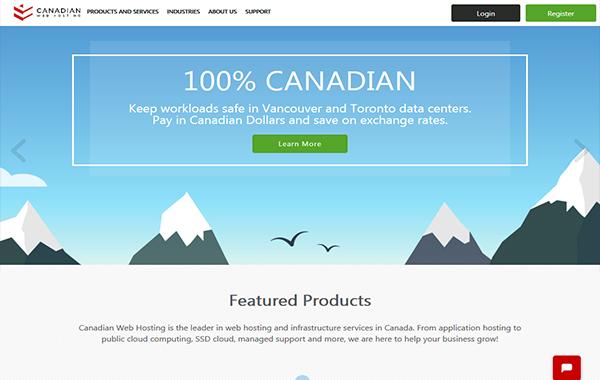 Canadian web hosting