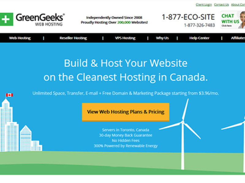 Green Geeks Eco Hosting in Canada